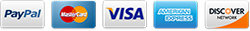 Payment Options: Paypal, MasterCard, Visa, American Express, Discover