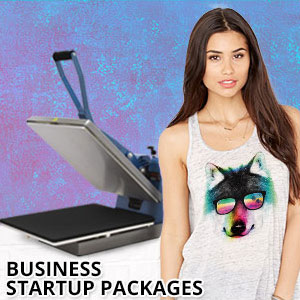 Business In A Box T-Shirt Heat Press Starter Packages