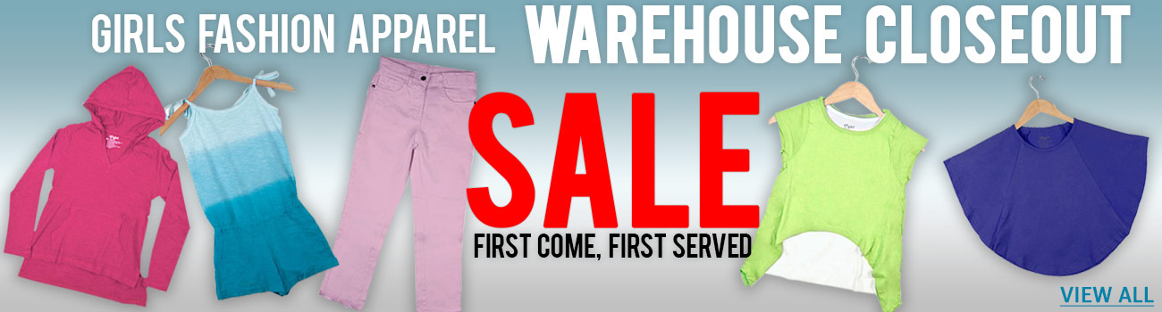 Girls Fashion Apparel Warehouse Closeout SALE