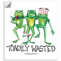 TOADILY WASTED STICKERS