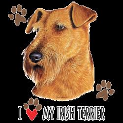 I HEART MY IRISH TERRIER