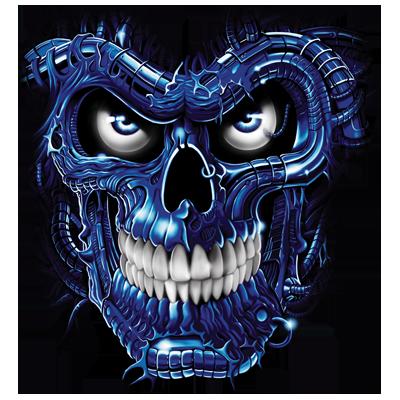 TERMINATOR SKULL BLUE