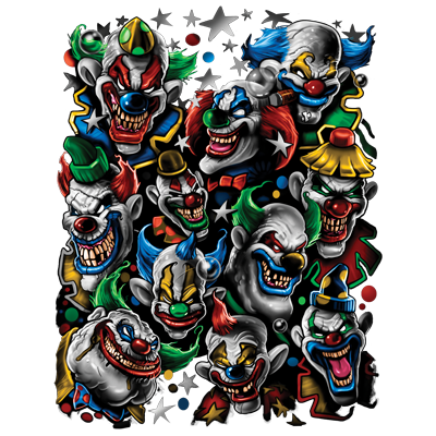COLORED CLOWNS I