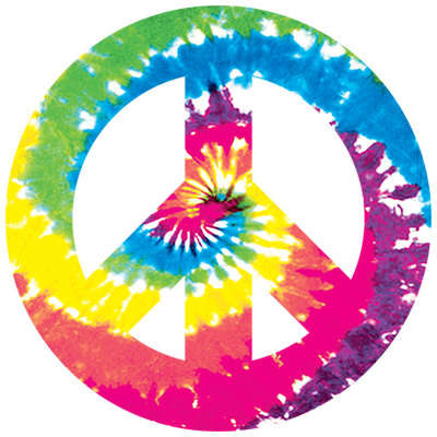 b8e31371 Peace Sign Tie Dye Heat Transfers | T-shirt Transfers | Iron-on ...