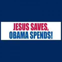 JESUS SAVES BUMPER STICKERS