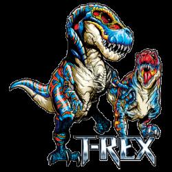 T-REX BLUE & RED