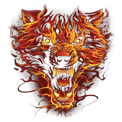 FLAMING WOLF