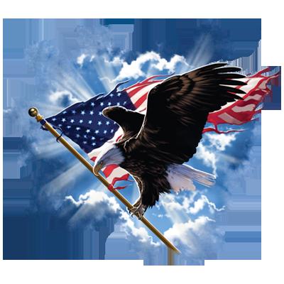 PATRIOTIC FLYING EAGLE