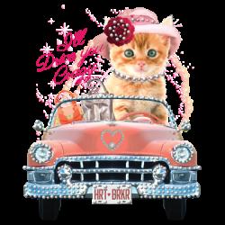 KITTY CAR RHINESTONES