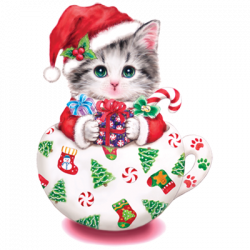 CUP KITTY CHRISTMAS