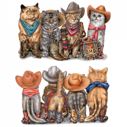 PRINTS OF TAILS COWBOY CATS