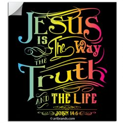 JESUS IS THE WAY STICKERS