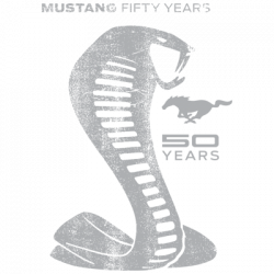 TEMP-MUSTANG 50 YEARS COBRA