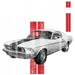 MUSTANG 50 YEARS RED