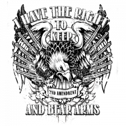 KEEP AND BEAR ARMS W/CREST
