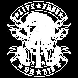 LIVE FREE EAGLE W/CREST