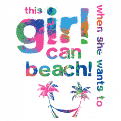 GIRL CAN BEACH