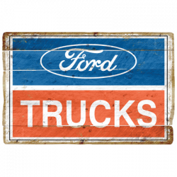 2001 FORD TRUCKS LOGO VINTAGE SIGN