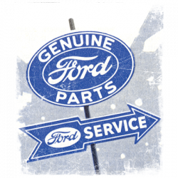GENUINE FORD PARTS VINTAGE SIGN
