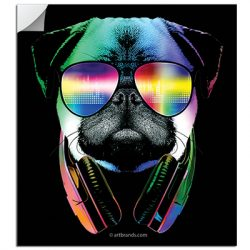 DJ PUG STICKERS