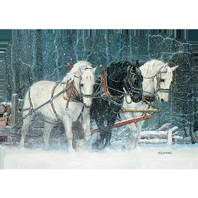 SNOWFALL HORSES