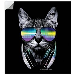 DJ CAT STICKERS