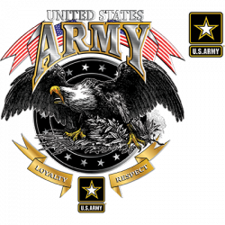 US ARMY LOYALTY RESPECT EAGLE W/CREST
