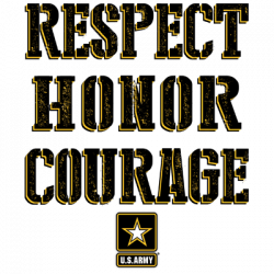 U.S. ARMY RESPECT HONOR COURAGE