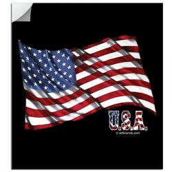 U.S.A. FLAG STICKERS