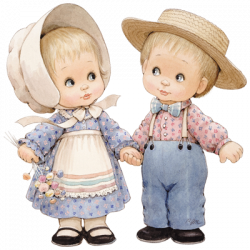 COUPLE IN HATS HOLDING HANDS