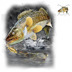 JUMPING WALLEYE W/CREST