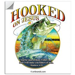 HOOKED ON JESUS STICKERS