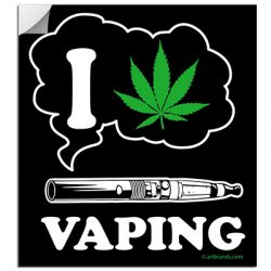 I LOVE VAPING STICKERS