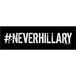 NEVER HILLARY STICKERS