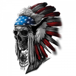 PATRIOTIC CHIEF SKULL
