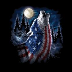 FLAG WOLF AMERICANA