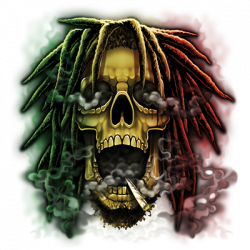 RASTA SKULL (DARKS ONLY)