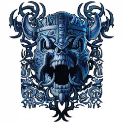 BLUE WAR SKULL (DARKS ONLY)