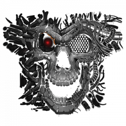 TEMP-CYBORG SKULL (DARKS ONLY)
