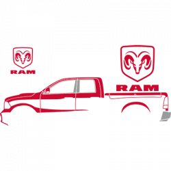 RED RAM SILHOUETTE