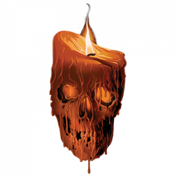MELTING SKULL CANDLE