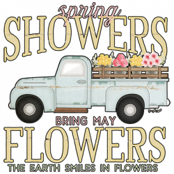 SPRING FLOWERS TRUCK