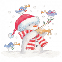 SNOWMAN AND VIOLIN