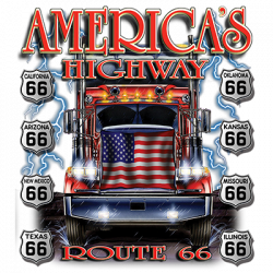 AMERICA'S HIGHWAY FLAG TRUCK