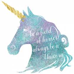 BE A UNICORN WATERCOLOR