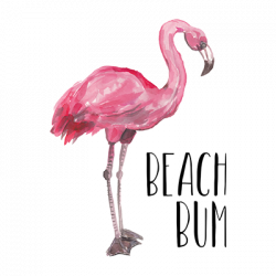 BEACH BUM FLAMINGO