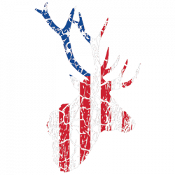 FLAG DEER DISTRESSED
