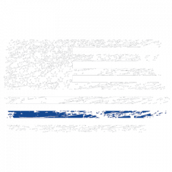 THIN BLUE LINE DISTRESSED