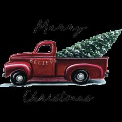 MERRY CHRISTMAS TREE TRUCK
