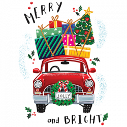 MERRY AND BRIGHT CAR